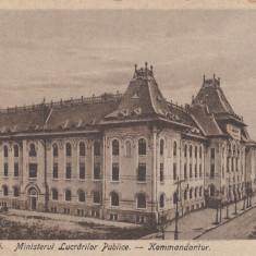 ROMANIA, BUCURESTI-MINISTERUL LUCRARILOR PUBLICE, LOT 1 CP - Carte Postala Muntenia dupa 1918, Circulata, Printata