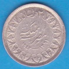 (1) MONEDA DIN ARGINT EGYPT - 2 PIASTRI (PIASTRES) 1942, STARE BUNA, Europa, An: 1942