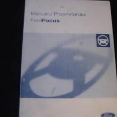 MANUALUL PROPRIETARULUI- FORD FOCUS-208 PG- - Carti auto