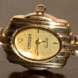 Ceas de dama femei CITIZEN ORIGINAL placat cu aur de 18K