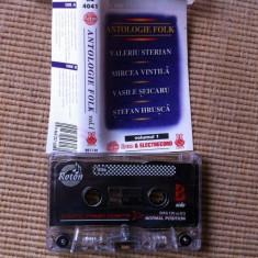 Antologie folk volumul 1 caseta audio muzica folk rock romaneasca roton, Casete audio