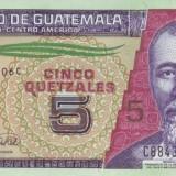 bancnota america, An: 2008 - Guatemala 5 Quetzales 12.03.2008 (stegulet in partea stanga) P-116 UNC !!!