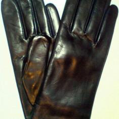 Manusi piele lungime 23-24 cm - marime 7 -piele naturala- IN STOC - Manusi Dama, Marime: 70, Culoare: Negru