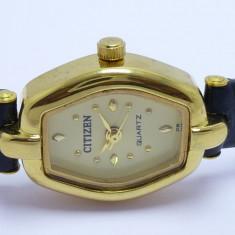Ceas de Dama Citizen, Diametru carcasa: 20, Placat cu aur, Placat cu aur, Quartz, 30 m / 100 ft / 3 ATM - Ceas de dama femei CITIZEN ORIGINAL placat cu aur de 23K