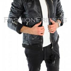 Palton tip ZARA neagra - palton barbati - palton slim fit - cod 5701