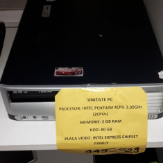 Unitate PC (lef) - Sisteme desktop fara monitor HP, Intel Pentium 4, 2501-3000Mhz, 2 GB, 40-99 GB