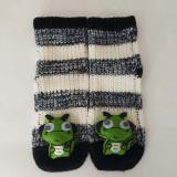 STK227-22 Ciorapi tricotati, cu model Dino - Sosete dama, Marime: Marime universala