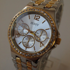 Ceas de Dama Geneva - JESSY ceasuri AURIU +ARGINTIU dama + CUTIE CADOU ceas gen guess CE128