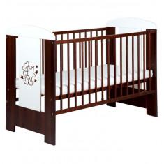 Patut Copii Din Lemn Klups Teddy With Stars Venghe - Patut lemn pentru bebelusi