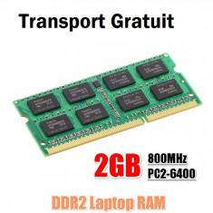 Memorie Laptop DDR2 Memorii 2x2 GB(4GB) 800MHz PC6400 Testate Garantie 12 Luni - Memorie RAM laptop, Dual channel