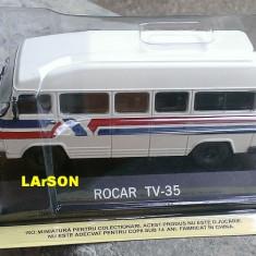 Macheta auto, 1:43 - Macheta metal DeAgostini Rocar TV-35 NOUA+ revista Masini de Legenda nr.80