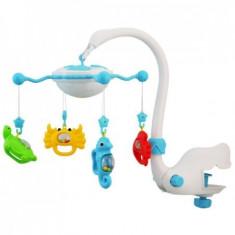 Carusel Muzical Baby Mix Bt9001 Albastru - Jucarie interactiva