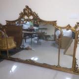 oglinda franceza din lemn aurita si sculptata-baroq , 250cm / 140cm