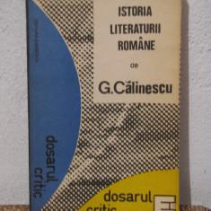 Studiu literar - ISTORIA LITERATURII ROMANE -GEORGE CALINESCU