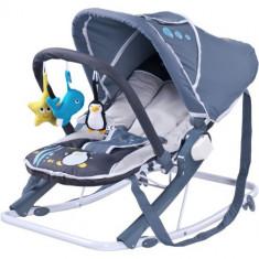 Sezlong pentru Copii Aqua Grey - Balansoar interior Caretero