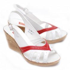 Sandale dama cu platforma din piele naturala mas. 40 - Lichidare de stoc!