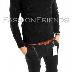 Pulover tip Zara negru - pulover barbati - cod 5811, Marime: L, Culoare: Din imagine