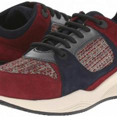 Adidasi dama, Burgundy - Pantofi sport Geox Omaya