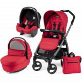 Carucior copii 2 in 1 Peg Perego - Carucior 3 in 1 Book Plus S Black Sportivo Red