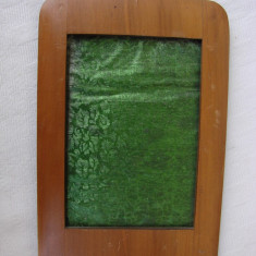 Rama din lemn din perioada anilor 1920 - 1940, in stil Ard Deco - Rama Tablou, Decupaj: Dreptunghiular