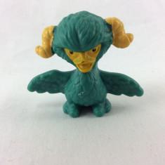 Miniatura/Figurina - Figurina, jucarie 2013-McDonalds-Dreamworks-DWA-Croods-Ramu-Bird-w-Horns pasare berbec verde, plastic, colectie, 4 cm