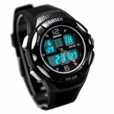 Ceas barbatesc, Sport, Quartz, Cauciuc, Rezistent la apa, Analog & digital - Superb Ceas militar/sport Dual Display rezistent la Apa, Timer, StopWatch