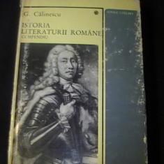 ISTORIA LITERATURII ROMANE-COMPENDIU-G. CALINESCU- - Istorie