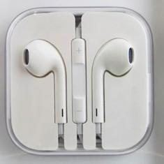 Casti Telefon, Alb, Comenzi pe fir - Casti iPhone Originale model iPhone 5