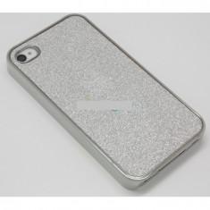 Husa bumper iPhone 4 4S silver sparks OFHi4S004, Plastic, Carcasa