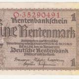 (6) BANCNOTA GERMANIA - 1 MARK (EINE RENTENMARK) 1937 (30 IANUARIE 1937) - STARE BUNA - bancnota europa