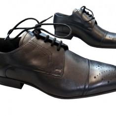 Incaltaminte barbati piele naturala Denis-2572 n - Pantofi barbati, Marime: 41, Culoare: Nero