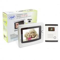 Resigilat - Interfon video cu 1 monitor model PNI DF-926 cu ecran LCD de 7 inch