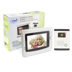 Resigilat - Interfon video cu 1 monitor model PNI DF-926 cu ecran LCD de 7 inch