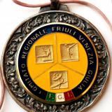 MEDALIE SPORT CONCURS GIMNASTICA ITALIA - ROMANIA MODEL 1, dimensiune 70 mm **