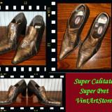 Pantof dama piele de sarpe Graceland Italia masura 38 - Super Pret - Pantofi dama Made in Italia, Piele naturala