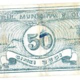 Bancnota locala de contributie 50 (LEI) TEATRUL MUNICIPAL PLOIESTI