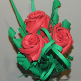 Buchet de trandafiri realizati handmade -> Origami 25 / 20 cm