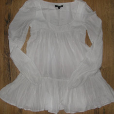 SUPER PRET! Tunica/ bluza babydoll French Connection Sz S bumbac model superb ! - Bluza dama French Connection, Marime: S, Culoare: Alb, Maneca lunga, Casual