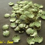 Ustensile - Set 10 decoratiuni metalice scoici aurii 5mm pentru unghii nail art ***nou
