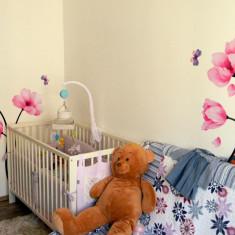 Patut bebe, 60*120 cm - stare impecabila (optional saltea cocos) - Patut lemn pentru bebelusi, Altele, 120x60cm, Alb