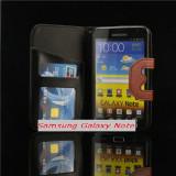 Husa Samsung Galaxy Note N7000 i9220 - Husa Telefon Samsung, Negru, Cu clapeta