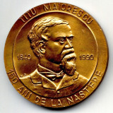 MEDALIE TITU MAIORESCU 150 ANI DE LA NASTERE UNIVERSITATEA AL I CUZA IASI SNR SECTIA IASI ISTORIE LITERATURA POLITICA - Medalii Romania