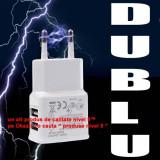 DUBLU USB 2A tableta ipad iphone 4 4s 5 6 samsung galaxy s1 s2 s3 apple ipod