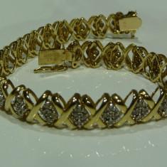 Bratara din aur - Bratara aur 14k cu diamante