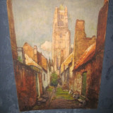 Reproducere - Set de 3 reproduceri foto vechi anii 1950 dupa pictori celebri Belgia