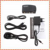 Adaptor interfata PC - Convertor Video AV S-Video RCA la VGA
