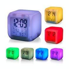 Ceas Cub Multicolor cu Calendar Termometru si Alarma