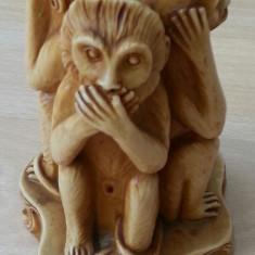 Sculptura, Animale - Statuie model deosebit Cele 3 maimute