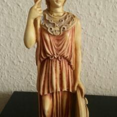 Metal/Fonta, Statuete - Statuie sculptura din alabastru cu aspect de marmura cu Socrate made in Grecia
