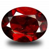 * Piatra naturala Granat Spessartin rosu - portocaliu - oval cut - 4.01 ct - certificat